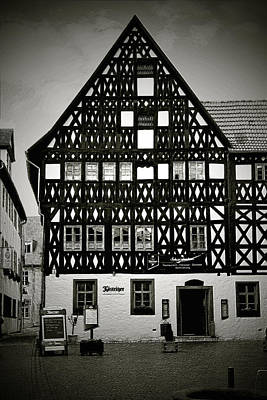 Timber-frame House Weimar Art Print