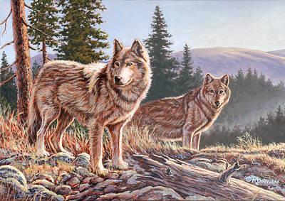 Timber Ridge Art Print