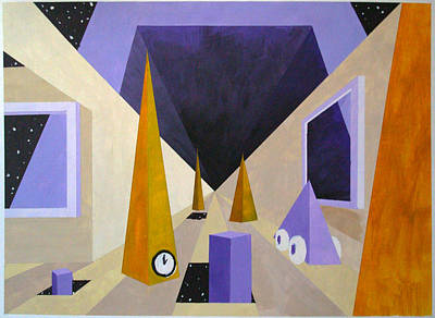 Arch Shapes Painting - Time And Space by George Wagner