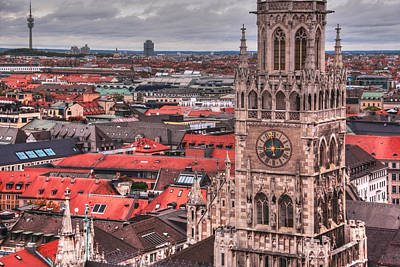 Arial View Photograph - Time For Munich by Anthony Citro