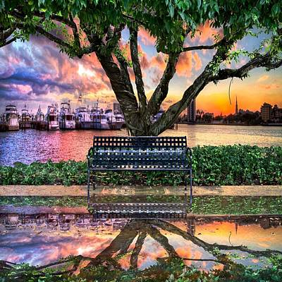 Citiscapes Photograph - Time For Reflection by Debra and Dave Vanderlaan