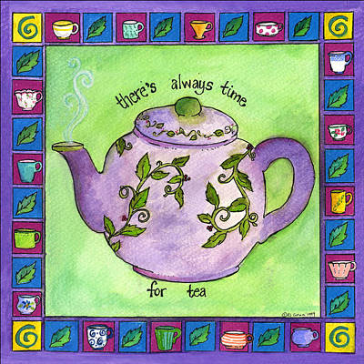 Painting - Time For Tea by Pamela  Corwin