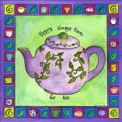Time For Tea Art Print by Pamela  Corwin