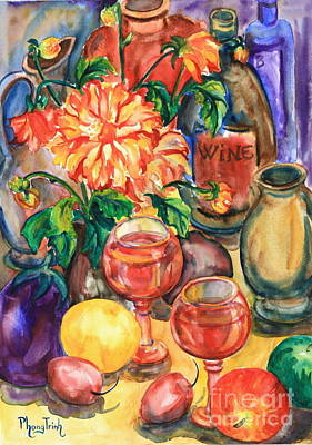 Phong Trinh Painting - Time For Wine by Phong Trinh