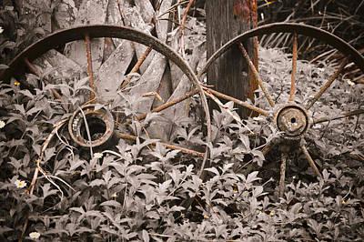Wagon Wheels Digital Art - Time Forgotten by Carolyn Marshall