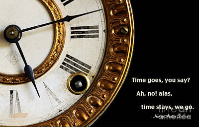 Time Goes... Art Print by Nancy Greenland