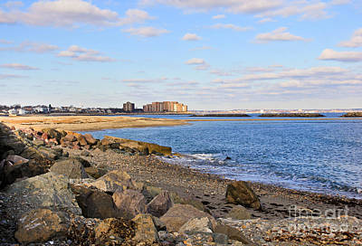 Time-honored New England Coast Art Print by Extrospection Art