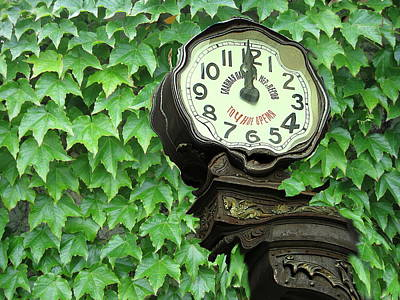 Time In Green Art Print