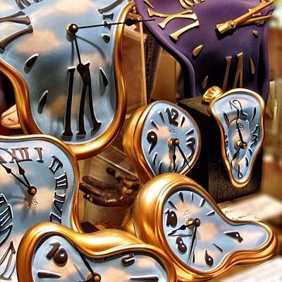 Time Is Melting Away #clocks #clocks Art Print