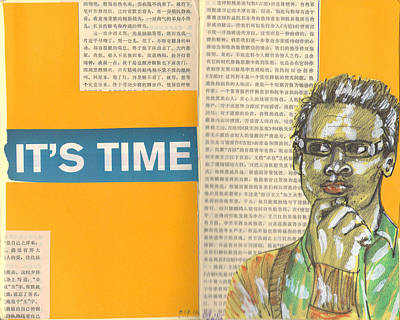 Analyzing Mixed Media - Time by Jennifer Moore
