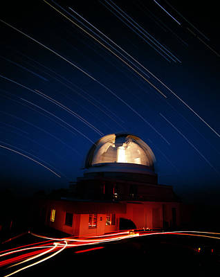Schmidt Photograph - Time-lapse Image Of The Uk Schmidt Telescope by David Nunuk