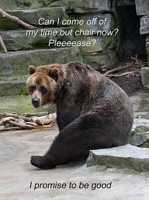 Time Out Bear Art Print