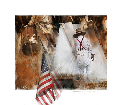 Drummer Photograph - Time Passages - Encampment -1812 by Bob Salo