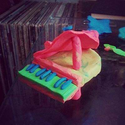 Piano Wall Art - Photograph - Time To Be A Grown Up #piano #playdough by Kensta Lopez
