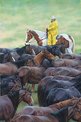 Cowboy Painting - Time To Soak by JQ Licensing