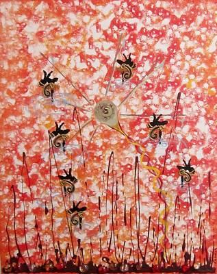 Painting - Time Wheel by Jarunee Ward