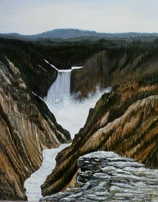 Timeless   Yellowstone Falls Original by Scott Melby