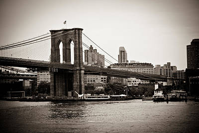 Photograph - Timeless Brooklyn Bridge by Sara Frank