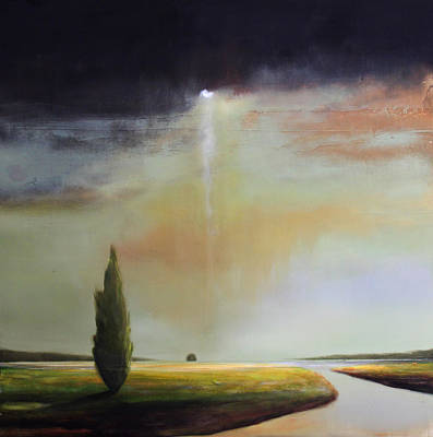Moody Painting - Timeless Light by Toni Grote