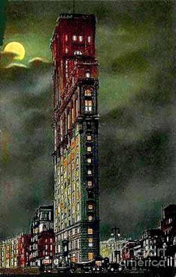 Painting - Times Building At Night 1910 by Dwight Goss