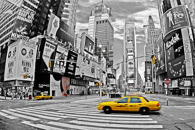 Times Square Digital Art - Times Square - New York by Marcel Schauer