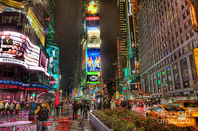 Times Square Photograph - Times Square At Night I by Clarence Holmes
