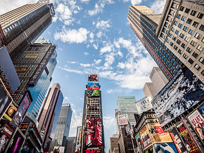 Art Prints Photograph - Times Square Convergence by Dune Prints by Peter Holloway