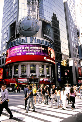 Rush Hour Digital Art - Times Square Corner by Linda  Parker