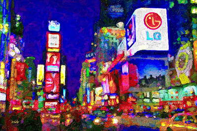 Times Square Art Print by Michael Petrizzo