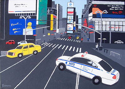 Times Square New York Art Print by Eamon Reilly