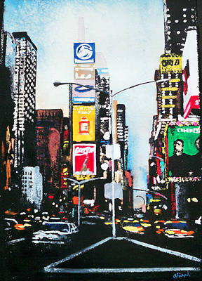 Times Square Painting - Times Square Nyc by Ann Marie Napoli