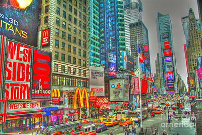 Times Square One Art Print by Alberta Brown Buller