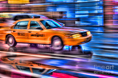 Times Square Photograph - Times Square Taxi IIi by Clarence Holmes