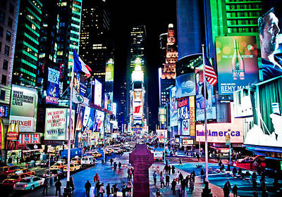 Times Square Digital Art - Times Square by Tim Eisenhauer