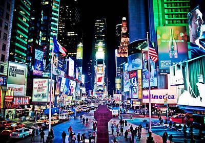 Times Square Art Print by Tim Eisenhauer