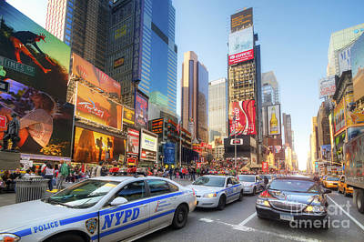 Photograph - Times Square Traffic 2.0 by Yhun Suarez
