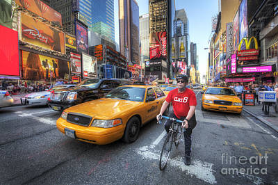 Photograph - Times Square Traffic by Yhun Suarez