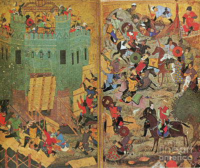 Timur And The Siege Of Smyrna 1402 Art Print by Photo Researchers