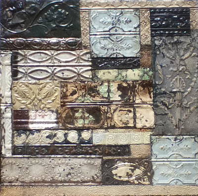 Kenny Hoff Sculpture - Tin Quilt by Kenny The Tin Man Hoff