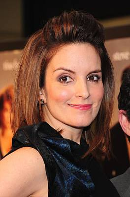 Bouffant Photograph - Tina Fey At Arrivals For Date Night by Everett