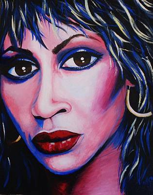 Painting - Tina Turner - Anna Mae by Anne Gardner
