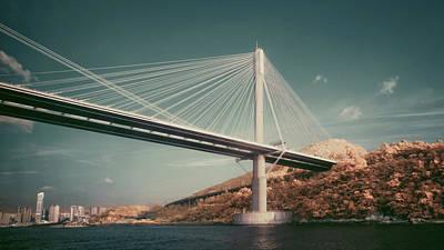 Hong Kong Photograph - Ting Kau Bridge by Yiu Yu Hoi