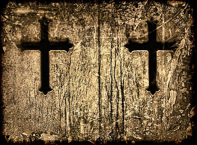 Photograph - Tinted Sepia Cross Duet by Tony Grider