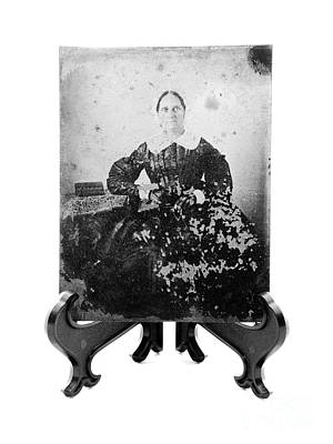 Photograph - Tintype Circa 1855-1900 Vintage by Kathleen K Parker