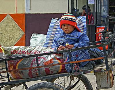 Peru Photograph - Tiny Biker 2 by Steve Harrington