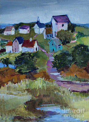 Painting - Tiny Village by Diane Ursin