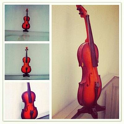 Music Wall Art - Photograph - Tiny Violin #violin #music #orchestra by Ilham Hanifil Ishom
