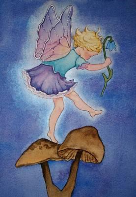 Painting - Tiptoe Fairy by Leslie Redhead