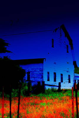 Digital Art - Tired Old Barn I by Kathy Sampson