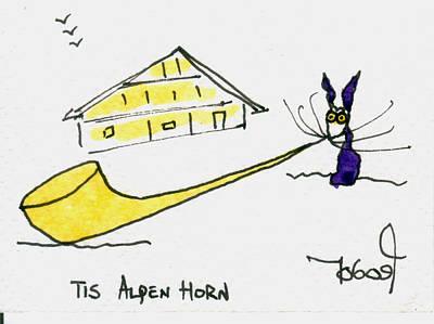 Tis Alpenhorn Art Print by Tis Art